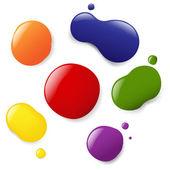 Conjunto de manchas de color — Vector de stock