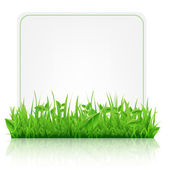 Green Grass With Paper Sheet — Stock Vector