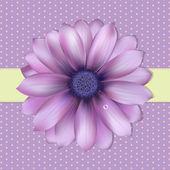 Fondo lila con gerber — Vector de stock
