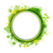 Bocadillo de diálogo con gota verde — Vector de stock