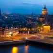 Night view of Amsterdam - Stock Photo