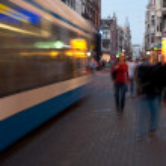 Enjoying evening Amsterdam — Stock Photo