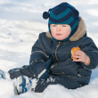 Stock Photo: Snacking on snow