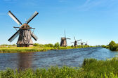Windmills at Kinderdijk — Stock Photo