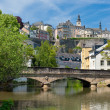 Alzette river in the Grund, Luxembourg — Stock Photo #11175966
