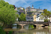 Alzette river in the Grund, Luxembourg — Stock Photo