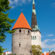 View on the Old Town of Tallin - Stock Photo