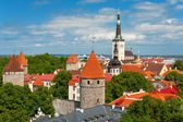Old Town of Tallin in summer — Stock Photo