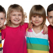 Group of four kids — Stock Photo
