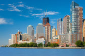 View on Manhattan from Hudson river — Stock Photo