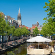 Stock Photo: View on Delft channel