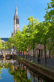Delft channel — Stock Photo