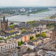 View of the Rhein and Cologne - Stock Photo