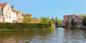 Wonderful channels of Brugge — Stock Photo