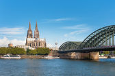 View of Cologne over the Rhein — Stock Photo