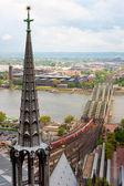 Railway bridge over the Rhein — Stock Photo