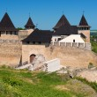 Khotyn fortress in summer - Stock Photo