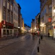 Streets of Brussels in the evening — Stock Photo