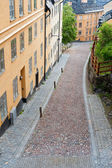 Small street of Stockholm — Stock Photo