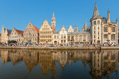 Graslei in Ghent — Stock Photo