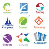 Logo ontwerp monsters 01 — Stockvector