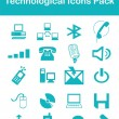 Technological Icons Pack — Stock Vector