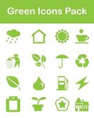 Green Icons Pack — Stock Vector