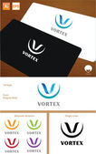 Vortex Logo Design — Stock Vector