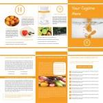 Trifold Design Brochure — Stock Vector