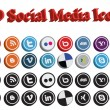 3D Social Media Icons - Stock Vector