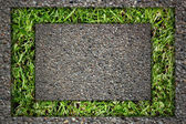 Grass and stone bricks — Stock Photo