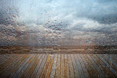 Rainy seascape — Stock Photo