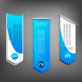 Zbiór różnych niebieski tagi z miejsca na tekst — Wektor stockowy