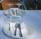 Restaurant table — Stock Photo