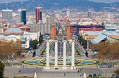 Montjuic fountain — Stock Photo