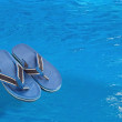 Stock Photo: Pool slippers