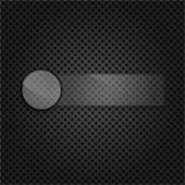 金属表面上のテキストのためのスペースを持つ空のグラス フレーム — ストックベクタ