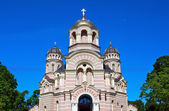 Orthodox cathedral in Riga — Stock Photo
