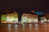 Warsaw old town square — Stock Photo