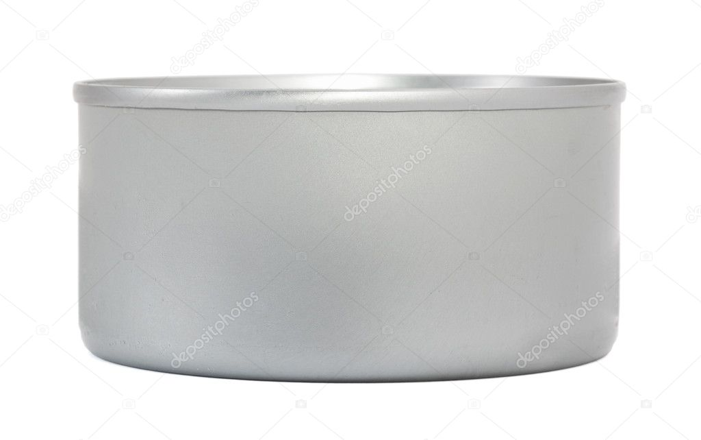 Metal food can on white — Stock Photo #12241684