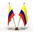 Stock Photo: Miniature Flag of Colombi(Isolated)