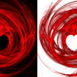 Two hearts fractals. — Stock Photo