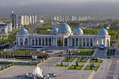 General Views to the main square and palace Ruhyet. Ashkhabad. Turkmenistan. — Stock Photo