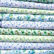 Stock Photo: Stack color cotton bedding