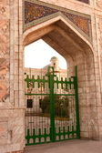 Gate into mosque. Ashkhabad. Turkmenistan. — Stock Photo
