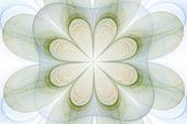 Fractal bloem in het groen — Stockfoto