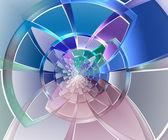Geometric shape of colored segments — Stock Photo