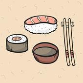 Sistema del sushi — Vector de stock