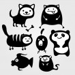 Animals — Vector de stock #12064876
