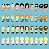 Pixel haircuts — Stock Vector